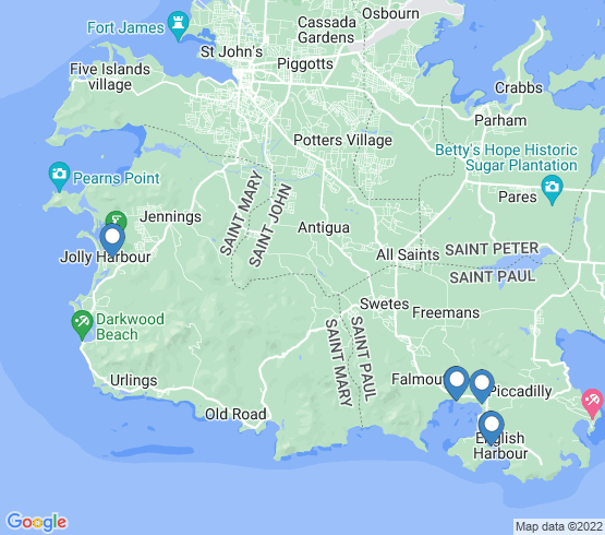 map of Falmouth fishing charters