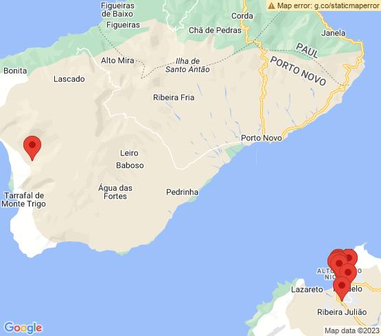 map of Mindelo fishing charters