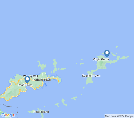 map of Tortola fishing charters