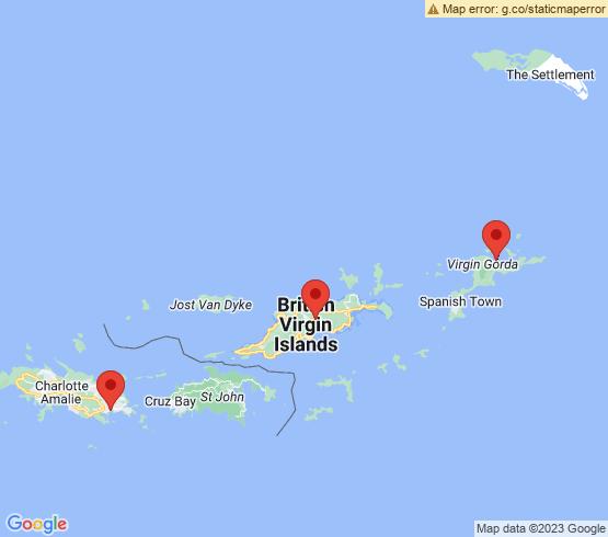 map of Virgin Gorda fishing charters