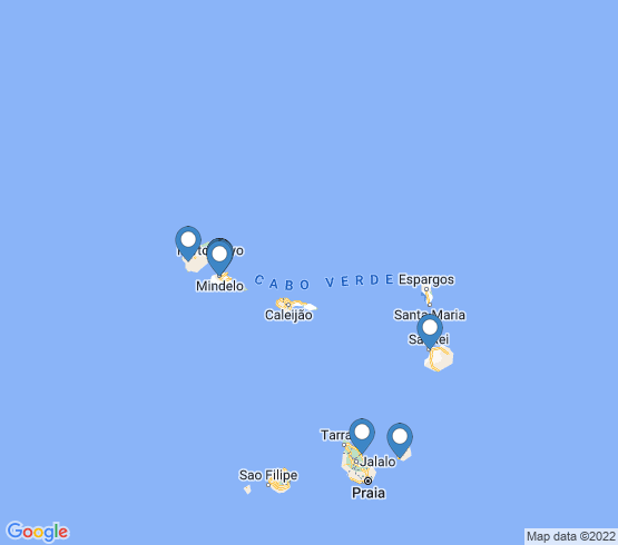 map of Cape Verde fishing charters