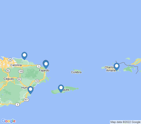 map of Vieques fishing charters