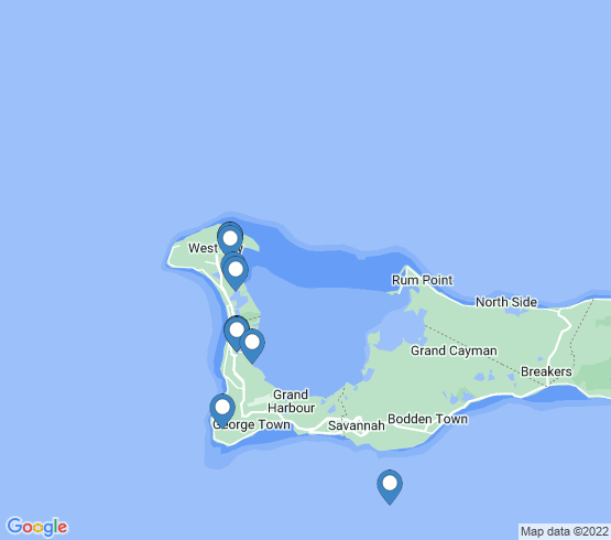 map of Grand Cayman fishing charters
