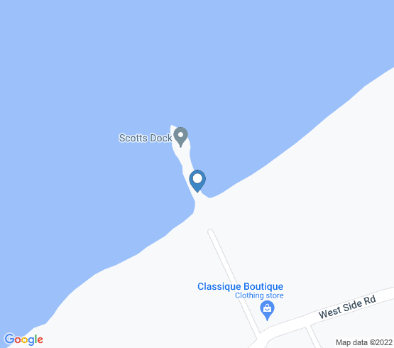 map of West End fishing charters