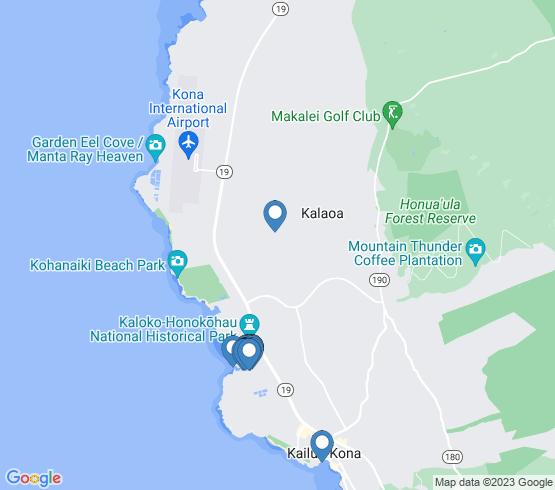 map of Kailua-Kona fishing charters
