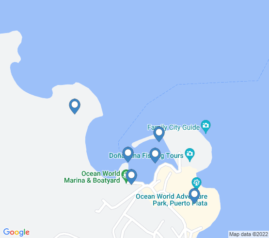 map of Puerto Plata fishing charters
