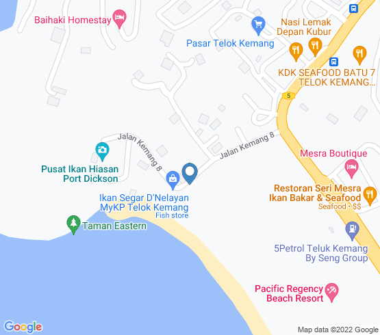 map of Port Dickson fishing charters