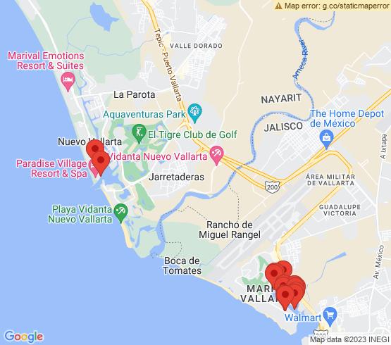 map of Nuevo Vallarta fishing charters