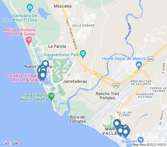 map of Nuevo Vallarta fishing charters