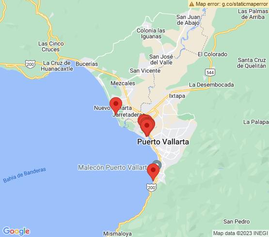 map of Puerto Vallarta fishing charters