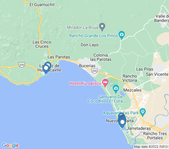 map of Nayarit fishing charters