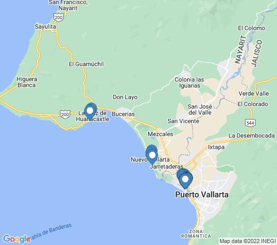 map of La Cruz De Huanacaxtle fishing charters