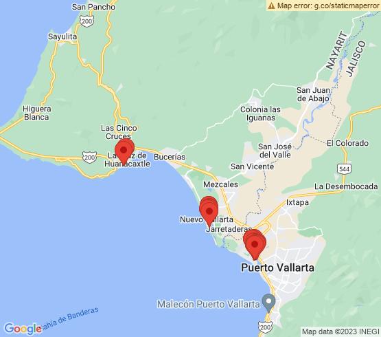 map of La Cruz De Huanacaxtle fishing charters