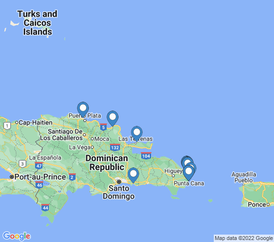 map of Dominican Republic fishing charters
