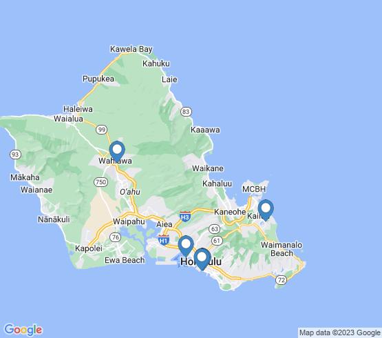 map of Wahiawa fishing charters