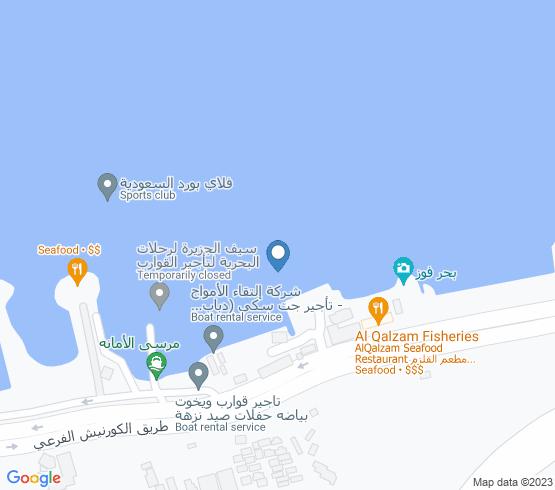 map of Saudi Arabia fishing charters