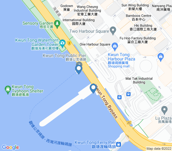 map of Kwun Tong fishing charters