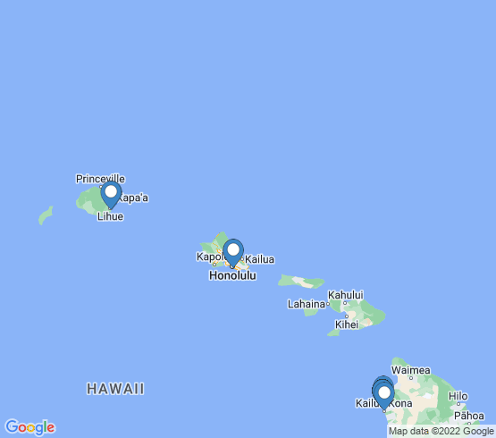 map of Hawaii fishing charters