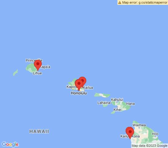 map of Hawaii fishing charters
