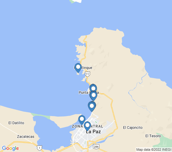 map of La Paz fishing charters