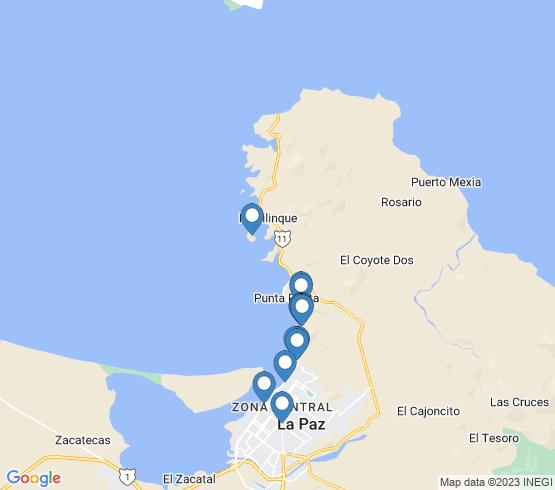 map of La Paz fishing charters
