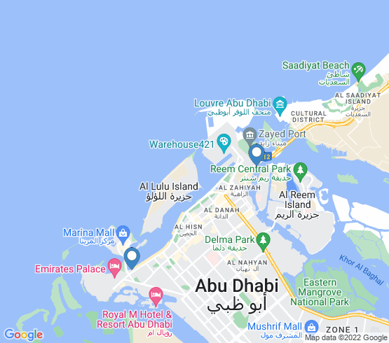 map of Abu Dhabi fishing charters