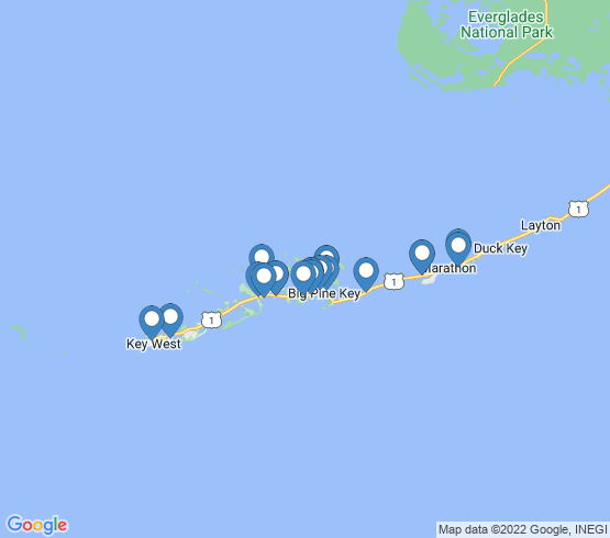 map of Little Torch Key fishing charters