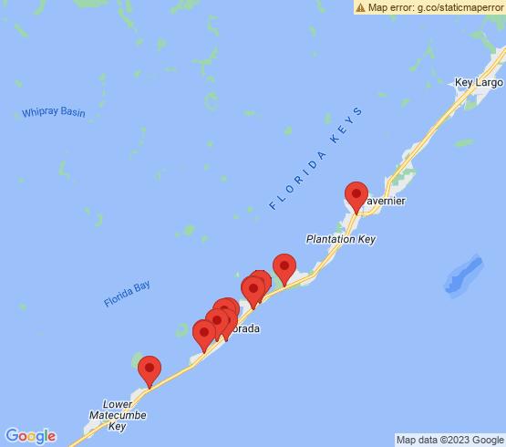 map of Islamorada fishing charters