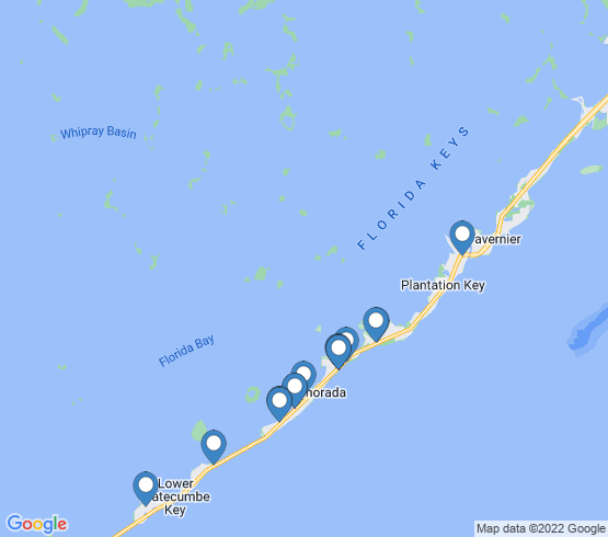 map of Islamorada fishing charters