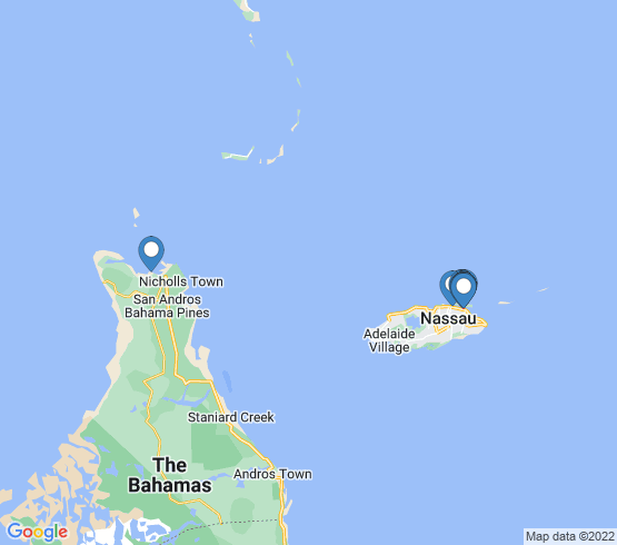 map of Andros Town fishing charters