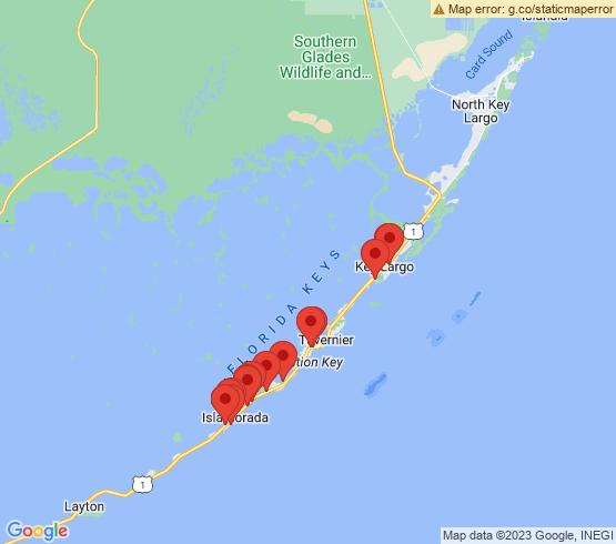 map of Tavernier fishing charters