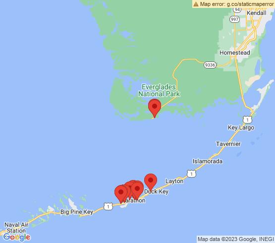 map of Marathon fishing charters