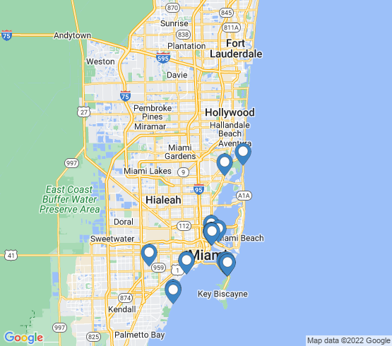 map of Miami fishing charters