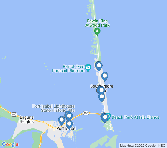 map of Port Isabel fishing charters