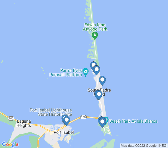 map of South Padre Island fishing charters