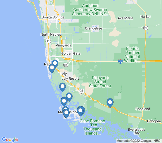map of Goodland fishing charters