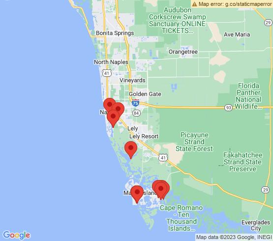 map of Marco Island fishing charters