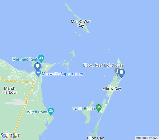 map of Elbow Cay fishing charters