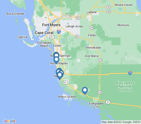 map of Naples fishing charters