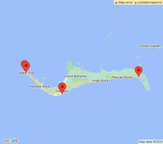 map of Freeport fishing charters