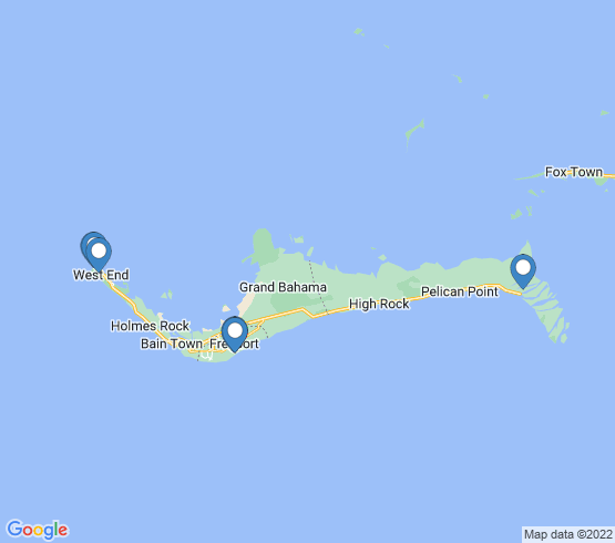 map of Freeport fishing charters