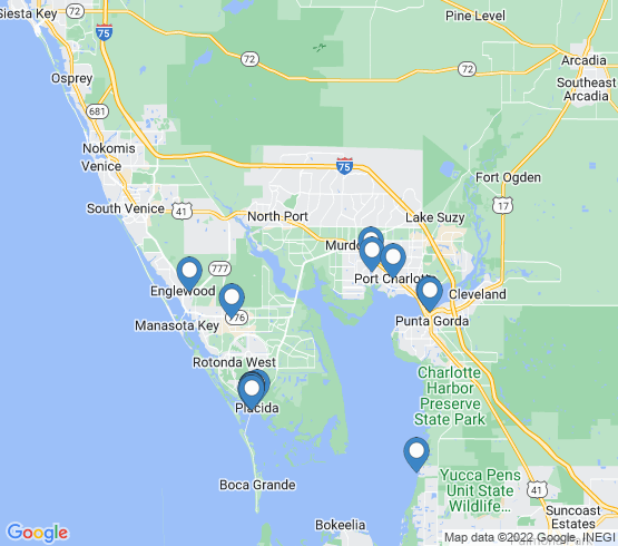 map of Port Charlotte fishing charters