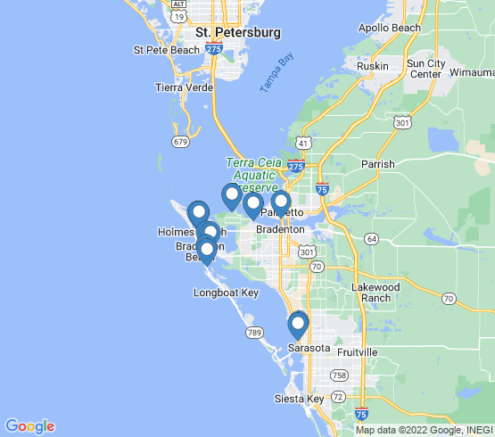 map of Cortez fishing charters