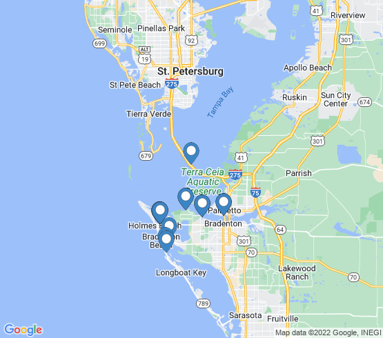 map of Palmetto fishing charters