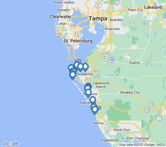 map of Sarasota fishing charters