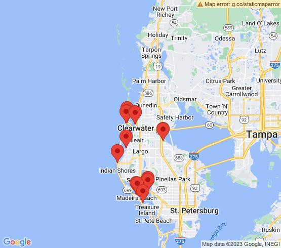 map of Indian Rocks Beach fishing charters