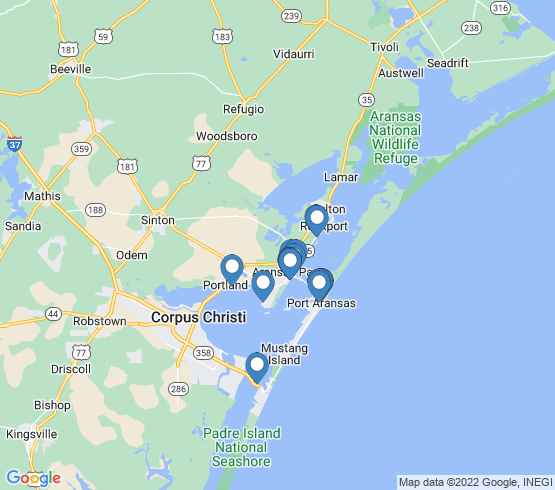 map of Ingleside fishing charters