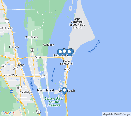 map of Port Canaveral fishing charters