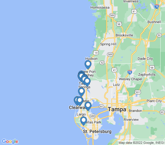 map of Holiday fishing charters