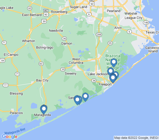 map of Sargent fishing charters
